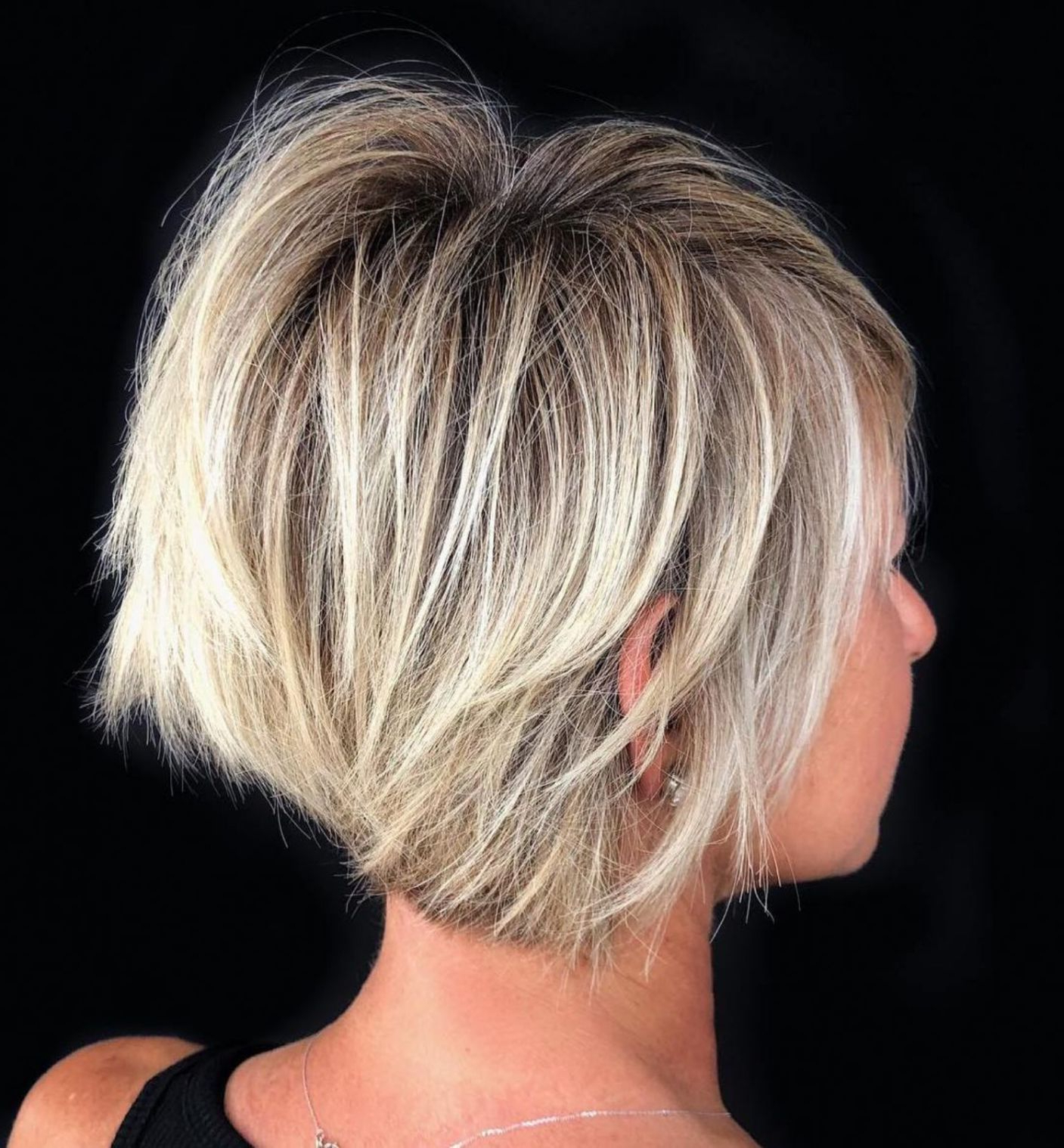 60 Best Short Bob Haircuts And Hairstyles For Women In 2018 | Hair In Stacked Blonde Balayage Pixie Hairstyles For Brunettes (View 8 of 20)