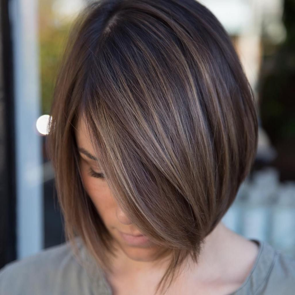 60 Chocolate Brown Hair Color Ideas For Brunettes | Brown Balayage For Modern Chocolate Bob Haircuts (View 6 of 20)