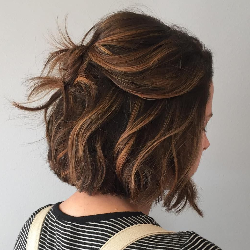 60 Chocolate Brown Hair Color Ideas For Brunettes In 2018 | Fashion Throughout Curly Dark Brown Bob Hairstyles With Partial Balayage (View 11 of 20)