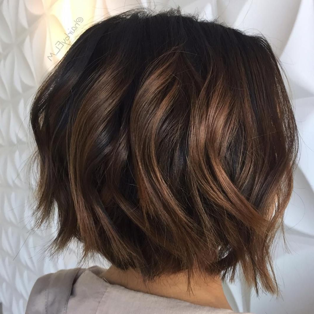 60 Chocolate Brown Hair Color Ideas For Brunettes In 2018 | Short Pertaining To Curly Dark Brown Bob Hairstyles With Partial Balayage (View 10 of 20)