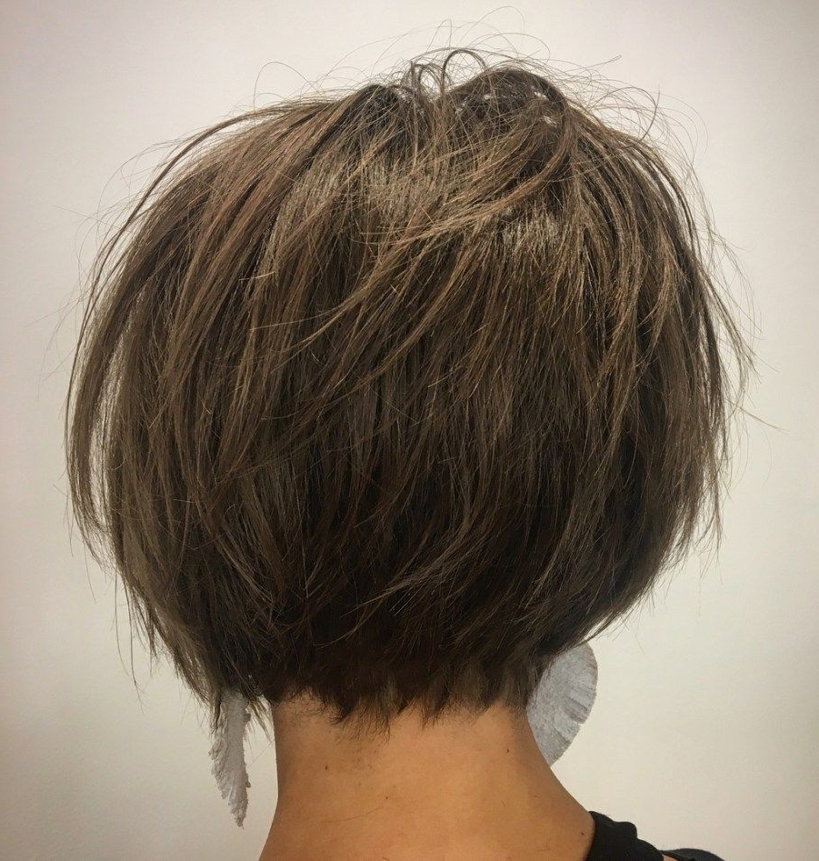 60 Classy Short Haircuts And Hairstyles For Thick Hair | Bob Pertaining To Tousled Razored Bob Hairstyles (View 11 of 20)