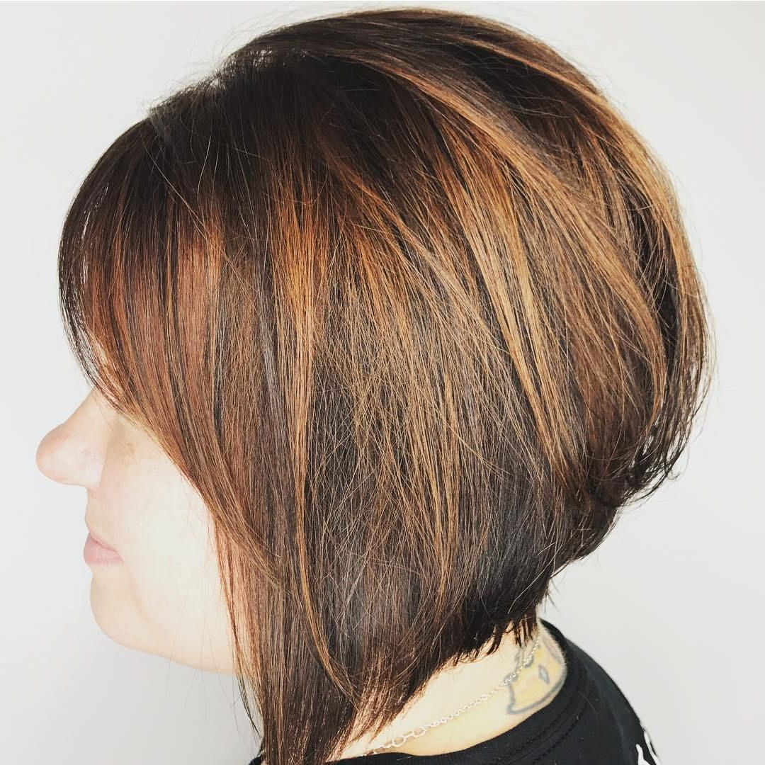 60 Classy Short Haircuts And Hairstyles For Thick Hair | Copper Regarding Stacked Copper Balayage Bob Hairstyles (View 9 of 20)