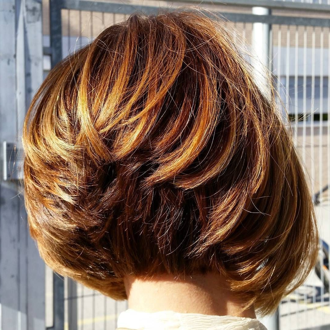 60 Classy Short Haircuts And Hairstyles For Thick Hair | Hair Regarding Stacked Copper Balayage Bob Hairstyles (View 10 of 20)
