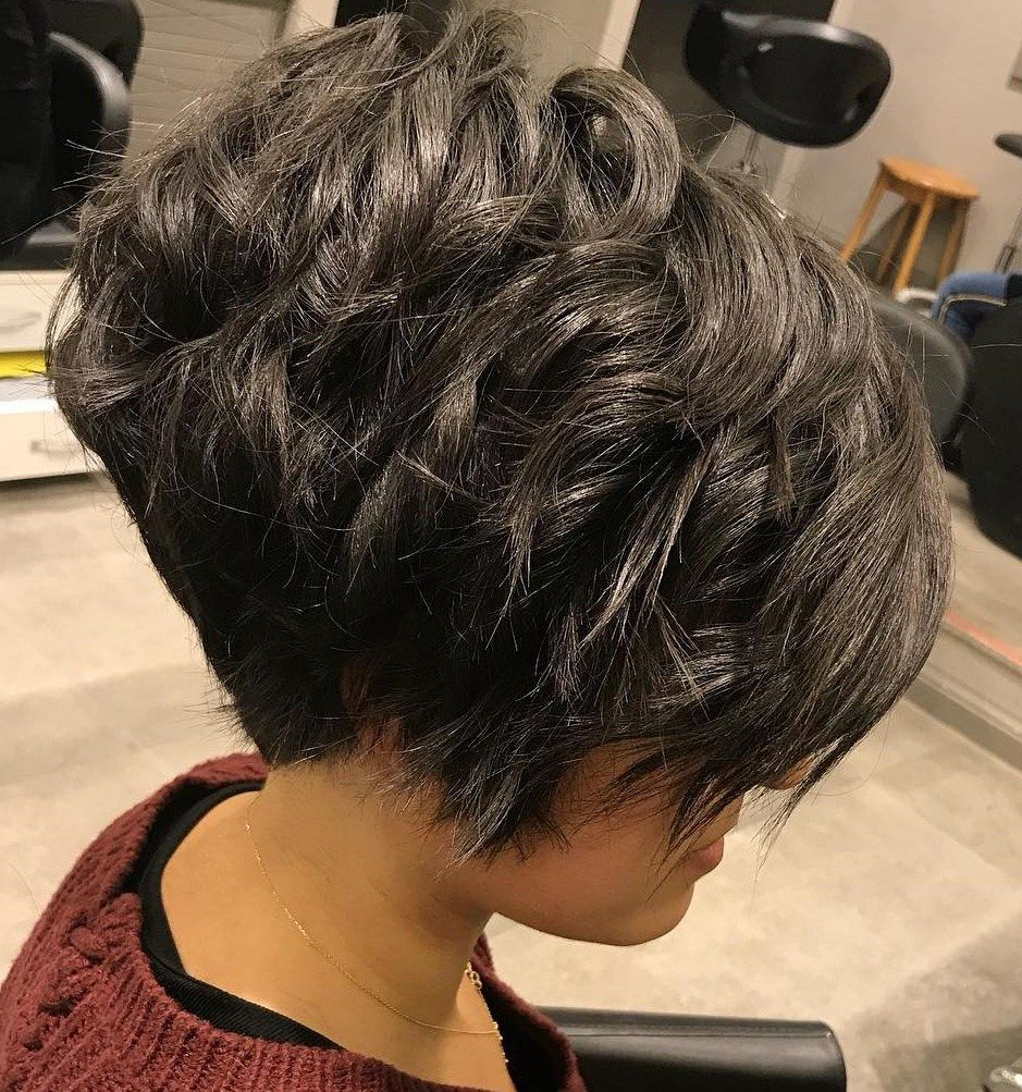 60 Classy Short Haircuts And Hairstyles For Thick Hair | Hair Styles In Razored Pixie Bob Haircuts With Irregular Layers (View 14 of 20)