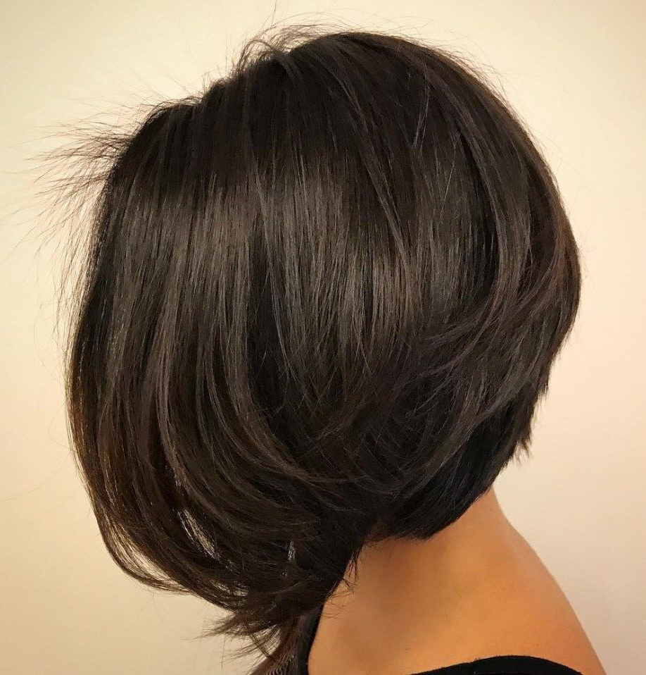 60 Classy Short Haircuts And Hairstyles For Thick Hair | Hair Styles Regarding Inverted Bob Hairstyles With Swoopy Layers (View 6 of 20)
