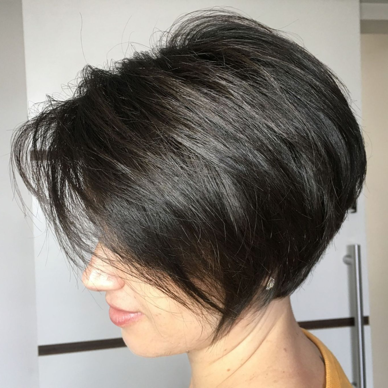 60 Classy Short Haircuts And Hairstyles For Thick Hair In 2018 Inside Long Feathered Espresso Brown Pixie Hairstyles (View 8 of 20)