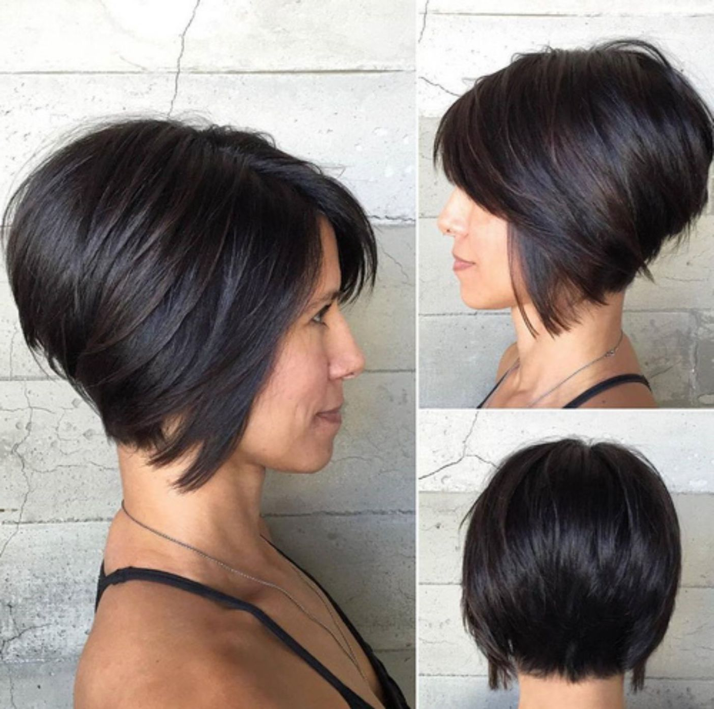 60 Classy Short Haircuts And Hairstyles For Thick Hair In 2018 With Angled Bob Hairstyles For Thick Tresses (View 3 of 20)