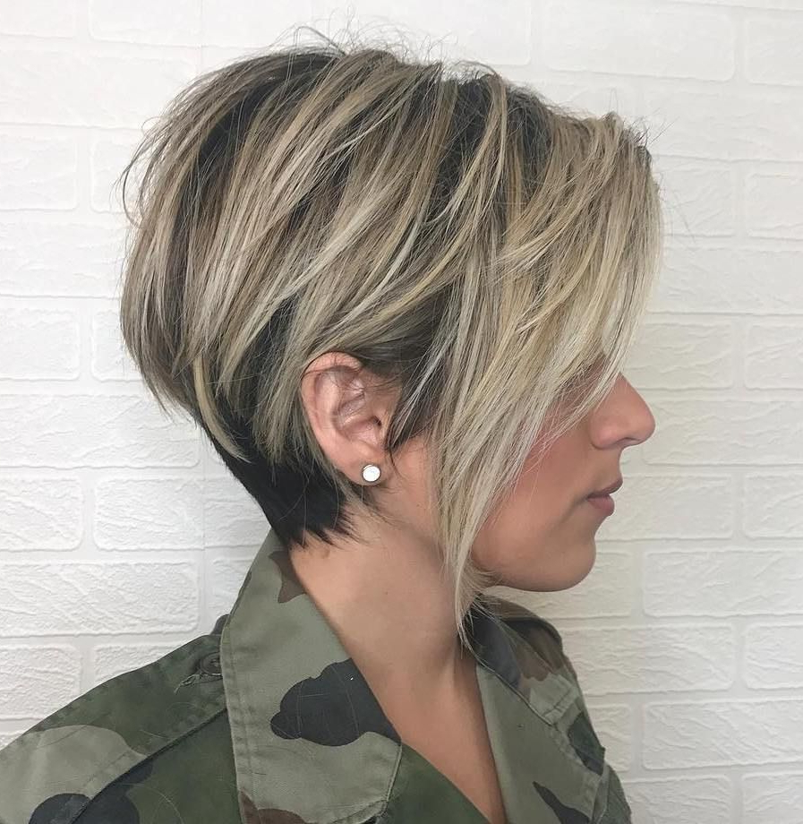 60 Classy Short Haircuts And Hairstyles For Thick Hair In 2018 With Black And Ash Blonde Pixie Bob Hairstyles (View 13 of 20)
