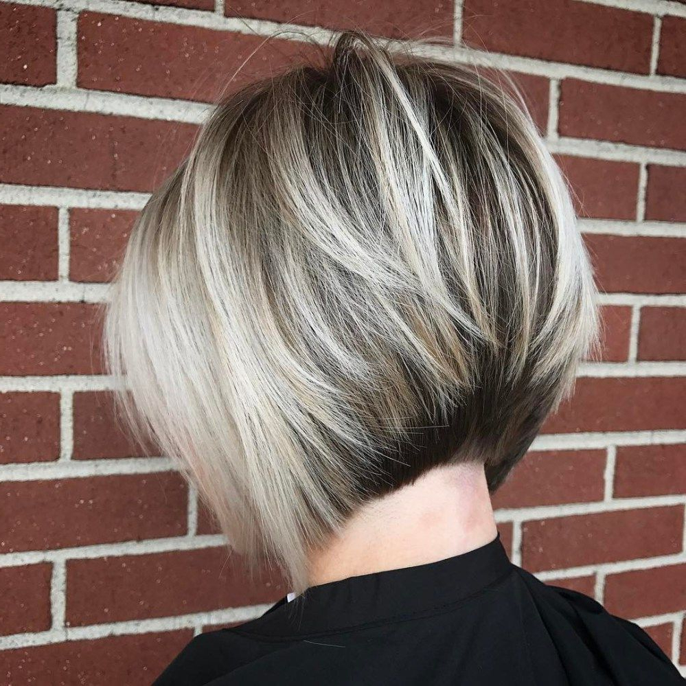 60 Classy Short Haircuts And Hairstyles For Thick Hair | Pinterest For Stacked Blonde Balayage Pixie Hairstyles For Brunettes (View 7 of 20)