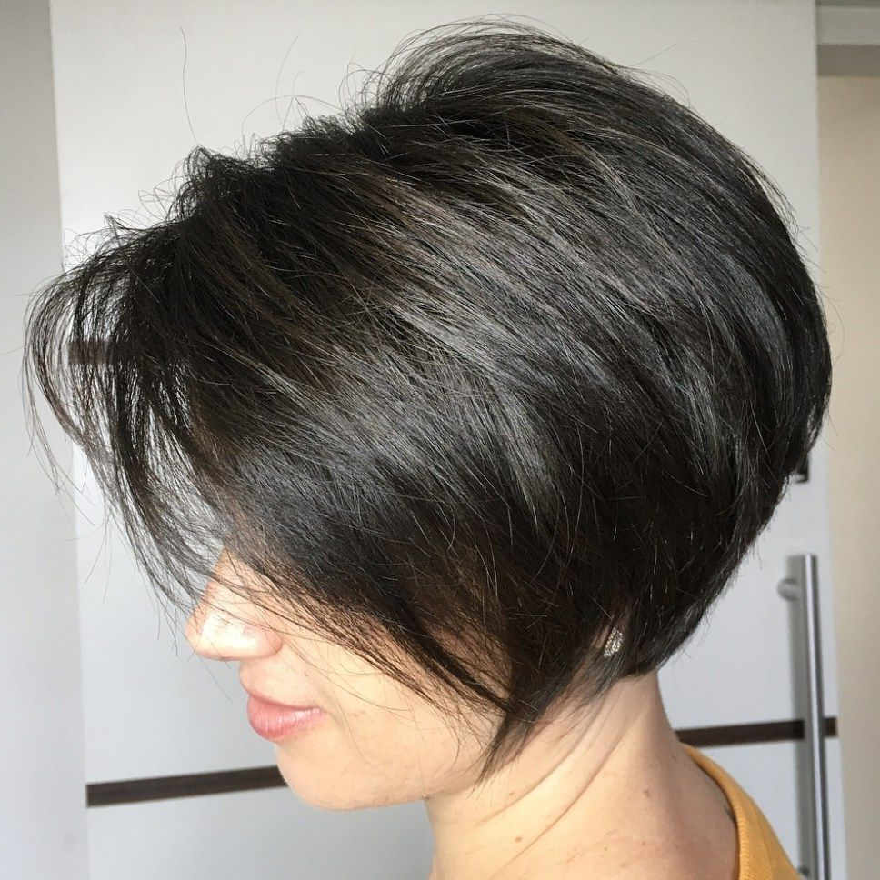 60 Classy Short Haircuts And Hairstyles For Thick Hair | Pinterest Intended For Short Stacked Bob Blowout Hairstyles (View 6 of 20)