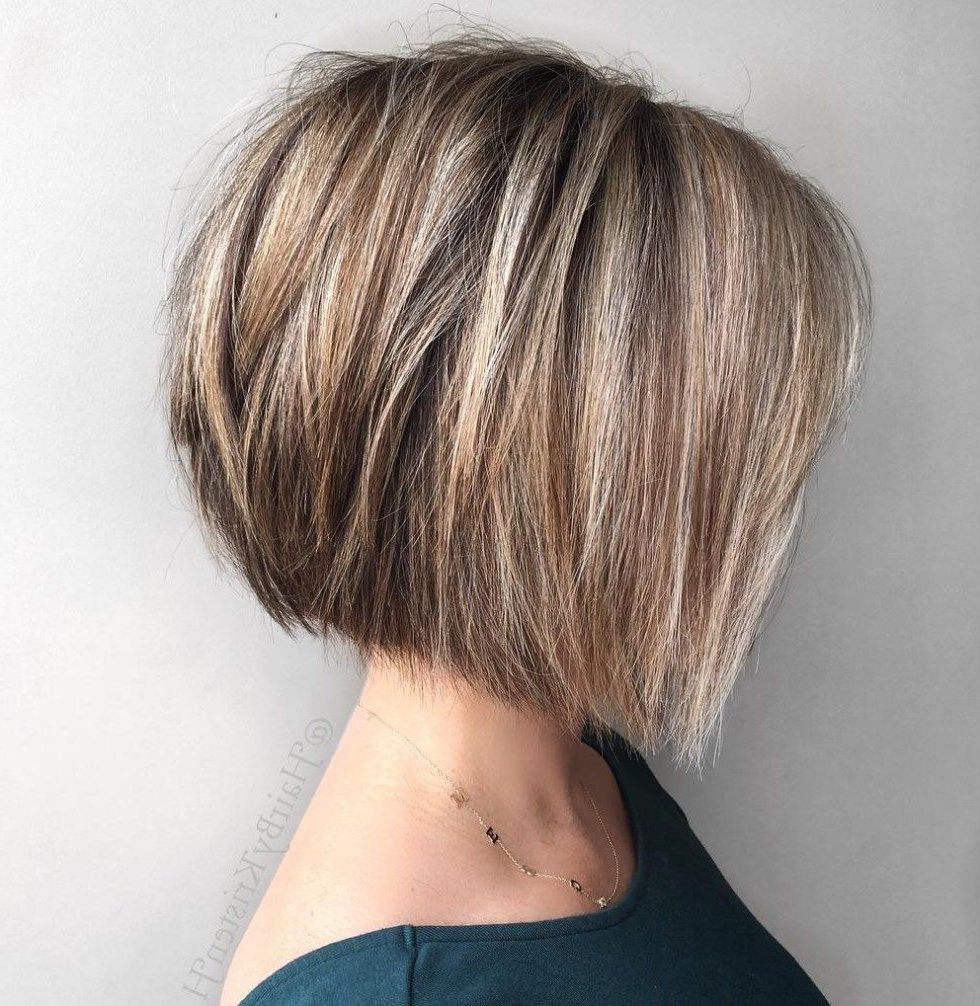 60 Classy Short Haircuts And Hairstyles For Thick Hair | Pinterest Regarding Straight Textured Angled Bronde Bob Hairstyles (View 1 of 20)