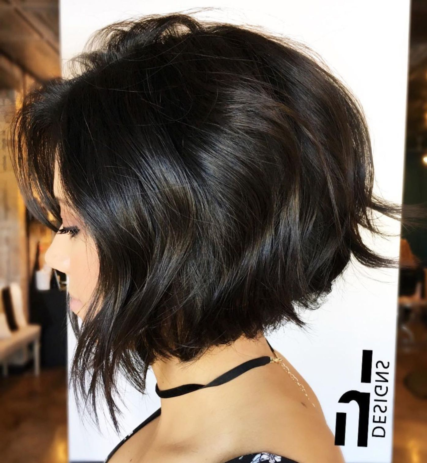 60 Classy Short Haircuts And Hairstyles For Thick Hair | Short Hair With Angled Burgundy Bob Hairstyles With Voluminous Layers (View 12 of 20)