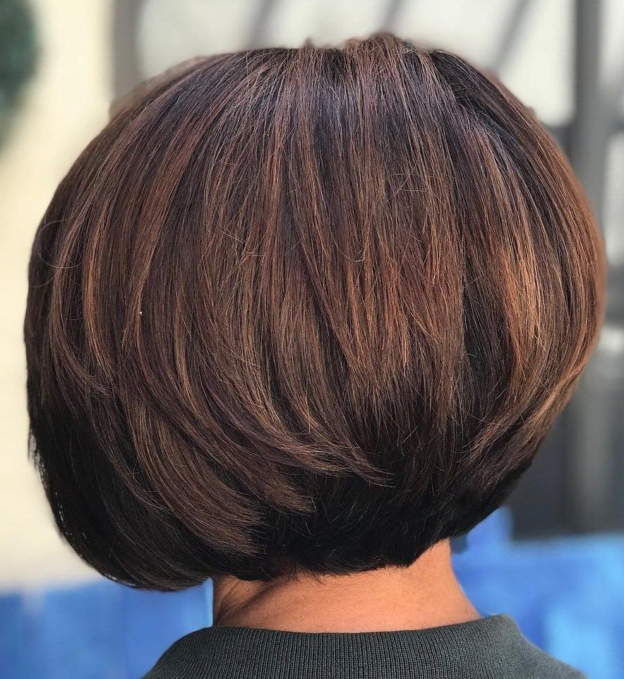 60 Classy Short Haircuts And Hairstyles For Thick Hair | Thicker Inside Classic Layered Bob Hairstyles For Thick Hair (View 12 of 20)