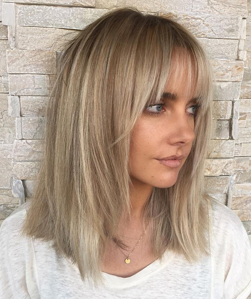 60 Fun And Flattering Medium Hairstyles For Women In 2018 | Hair Pertaining To Short Curly Hairstyles With Long Face Framing Pieces (View 10 of 20)