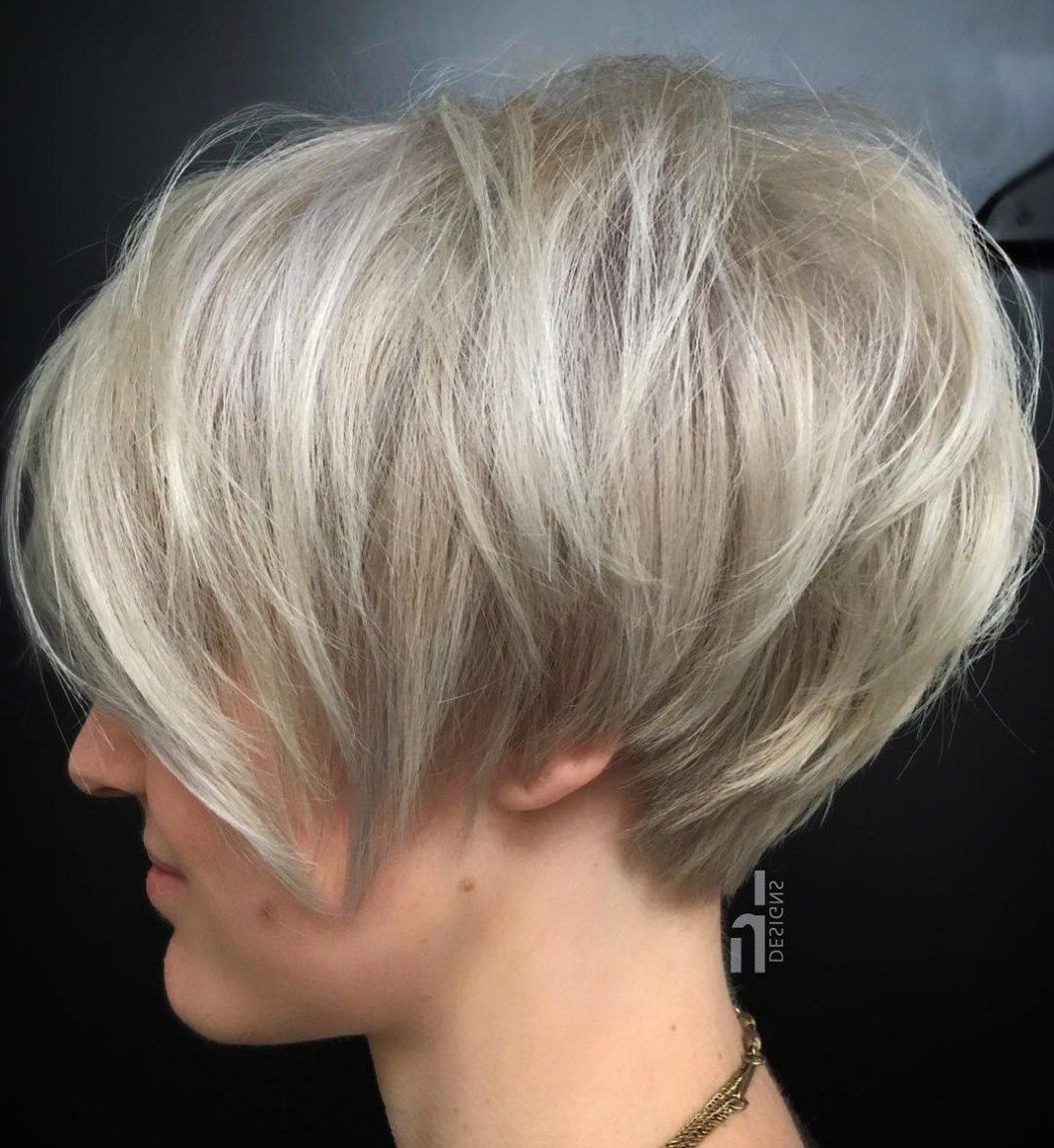 60 Gorgeous Long Pixie Hairstyles | Blonde Pixie, Pixie Bob And Ash Intended For Black And Ash Blonde Pixie Bob Hairstyles (View 14 of 20)