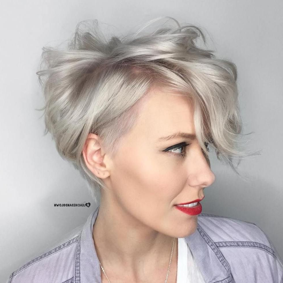 60 Gorgeous Long Pixie Hairstyles In 2018 | Coafuri | Pinterest With Ash Blonde Undercut Pixie Haircuts (View 7 of 20)
