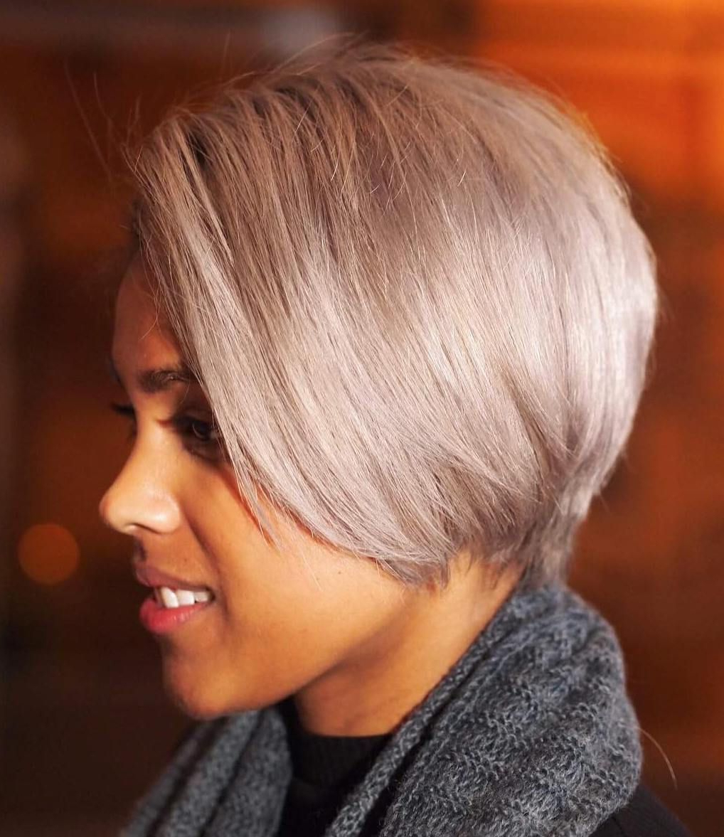 60 Great Short Hairstyles For Black Women | Short Haircuts In Black And Ash Blonde Pixie Bob Hairstyles (View 15 of 20)