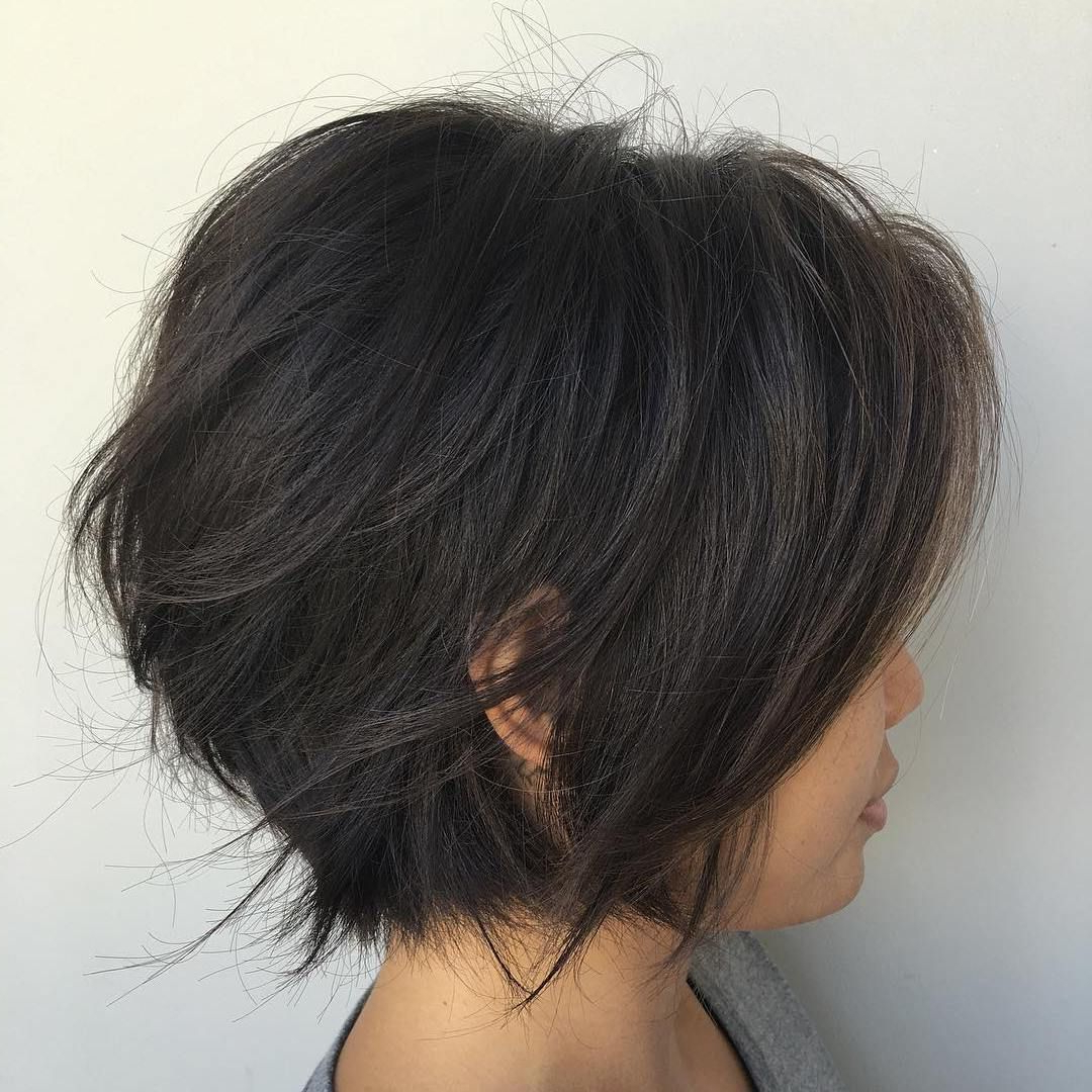 60 Layered Bob Styles: Modern Haircuts With Layers For Any Occasion For Black Inverted Bob Hairstyles With Choppy Layers (View 9 of 20)