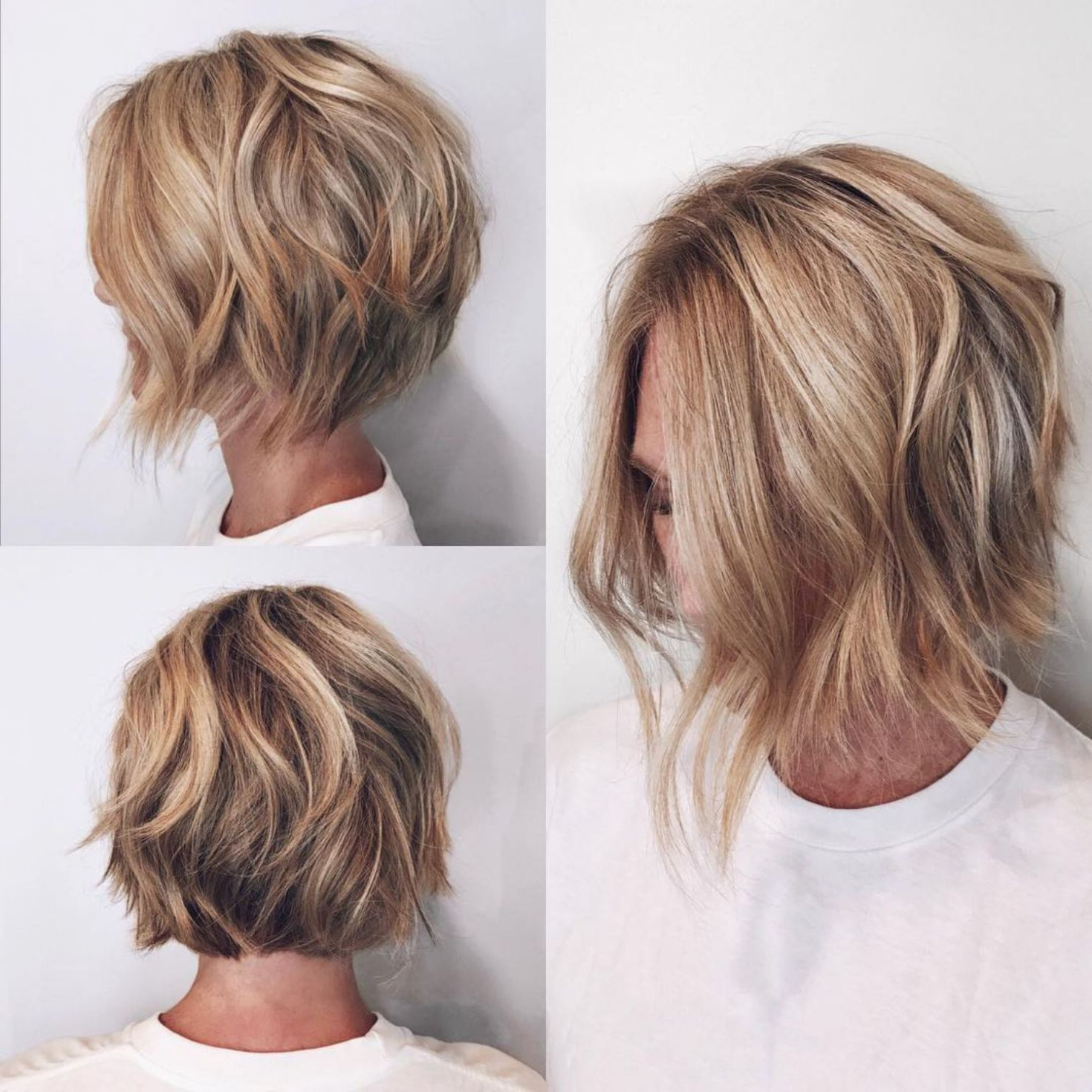 60 Layered Bob Styles: Modern Haircuts With Layers For Any Occasion Inside Caramel Blonde Rounded Layered Bob Hairstyles (View 7 of 20)