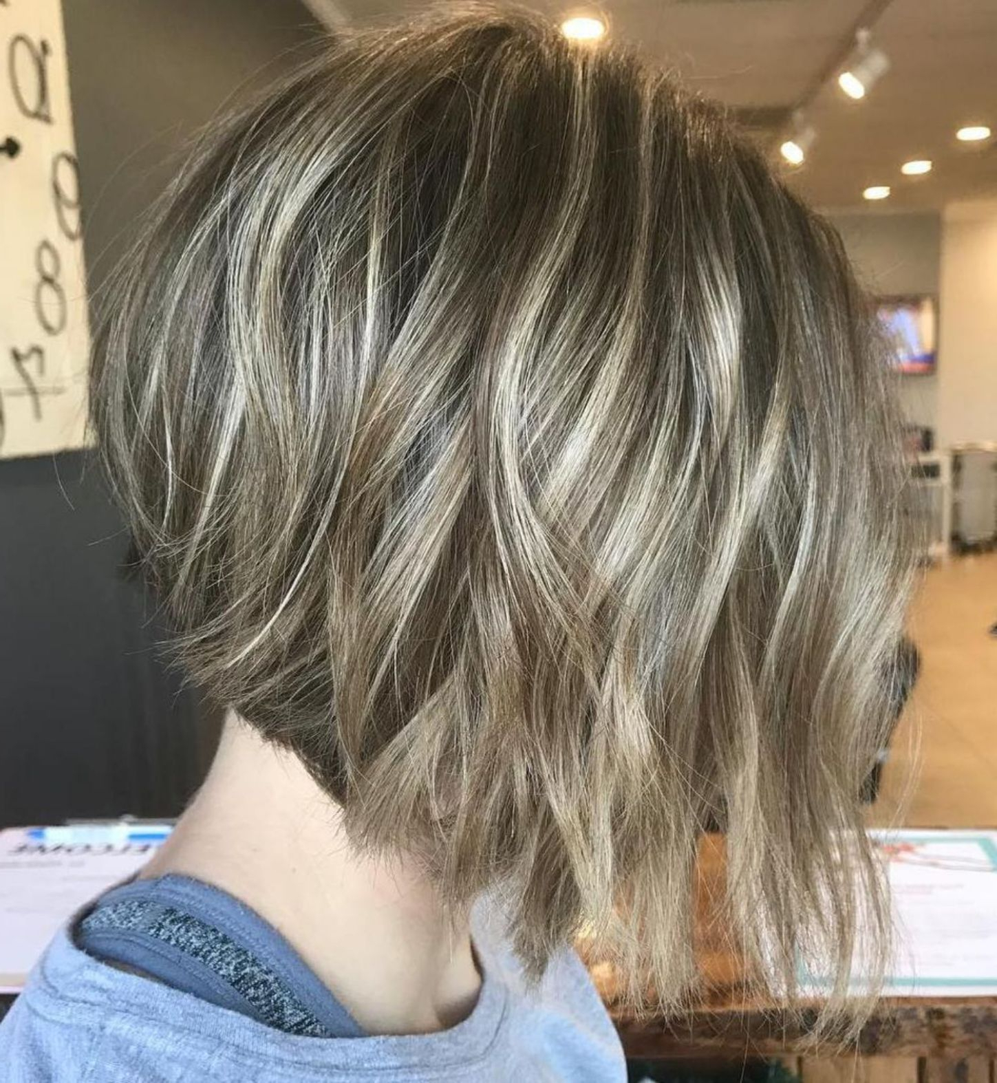 60 Layered Bob Styles: Modern Haircuts With Layers For Any Occasion Intended For Choppy Tousled Bob Haircuts For Fine Hair (View 12 of 20)