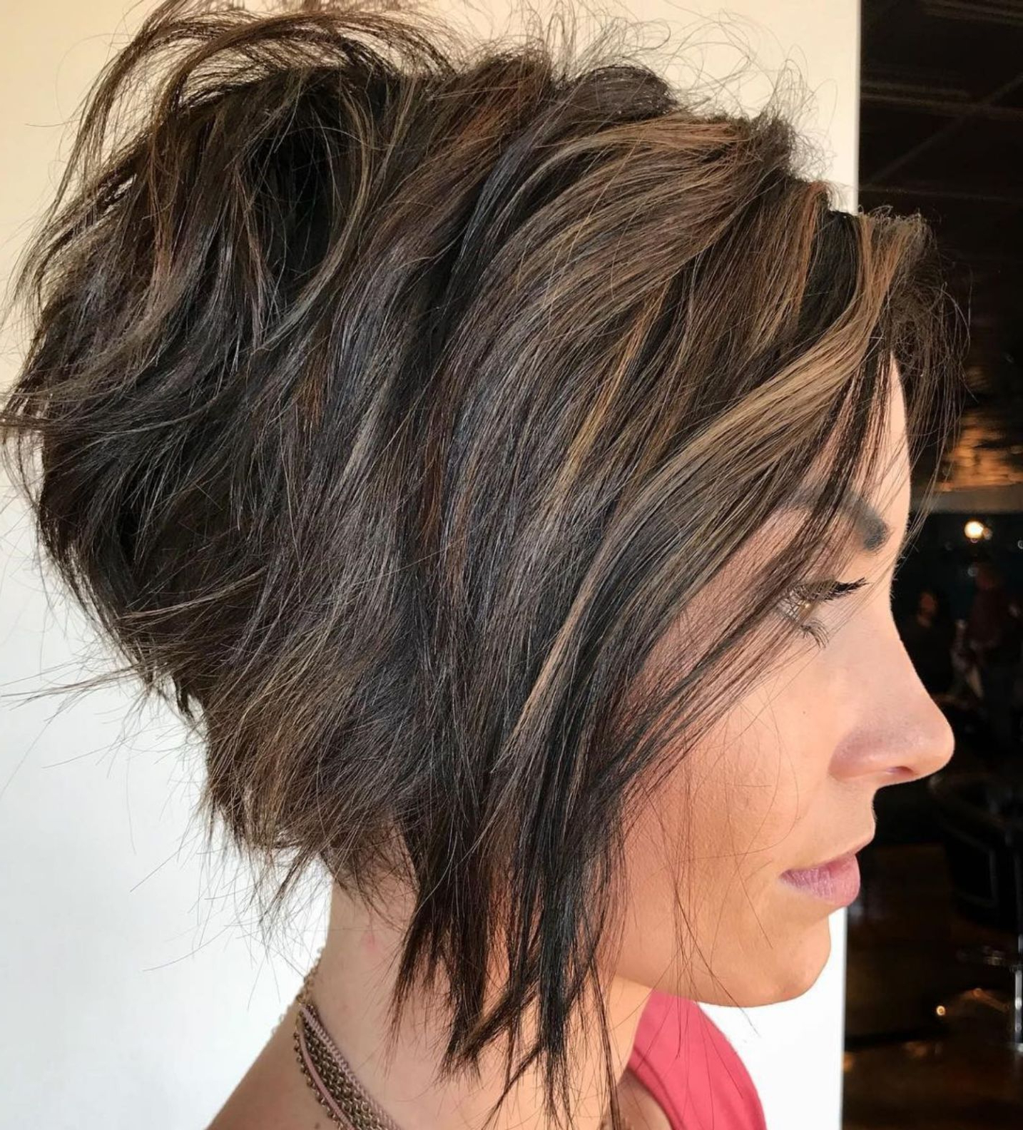 60 Layered Bob Styles: Modern Haircuts With Layers For Any Occasion Throughout Razored Pixie Bob Haircuts With Irregular Layers (View 16 of 20)