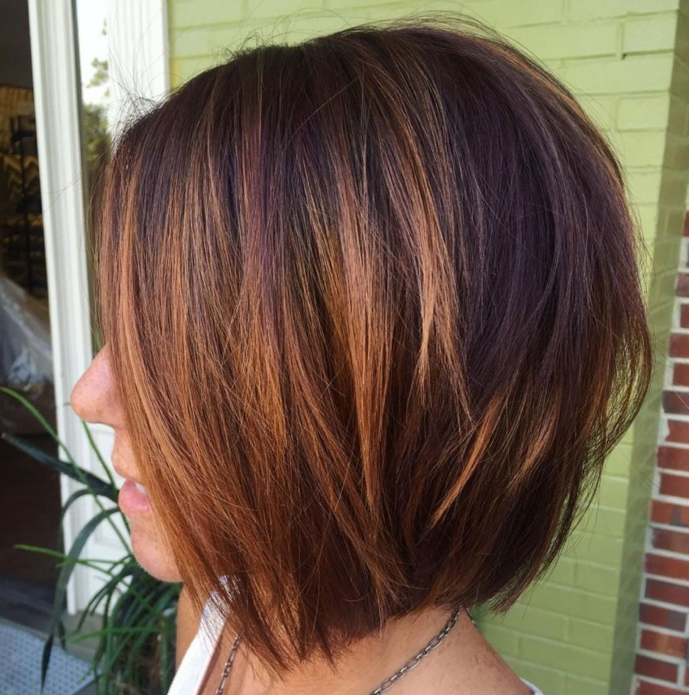 60 Layered Bob Styles: Modern Haircuts With Layers For Any Occasion With Regard To Silver Balayage Bob Haircuts With Swoopy Layers (View 9 of 20)