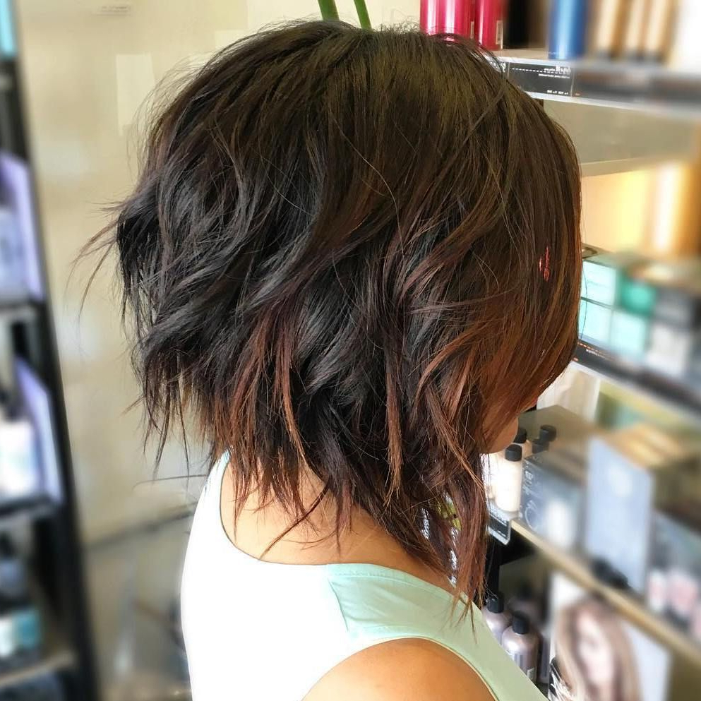 60 Messy Bob Hairstyles For Your Trendy Casual Looks | Hair In Sexy Tousled Wavy Bob For Brunettes (View 11 of 20)