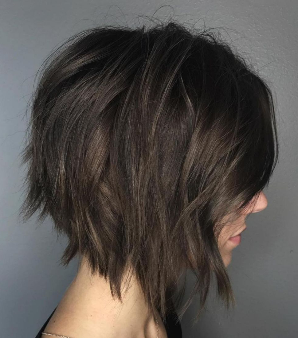 60 Messy Bob Hairstyles For Your Trendy Casual Looks | Hair Styles Pertaining To Edgy Brunette Bob Hairstyles With Glossy Waves (View 2 of 20)