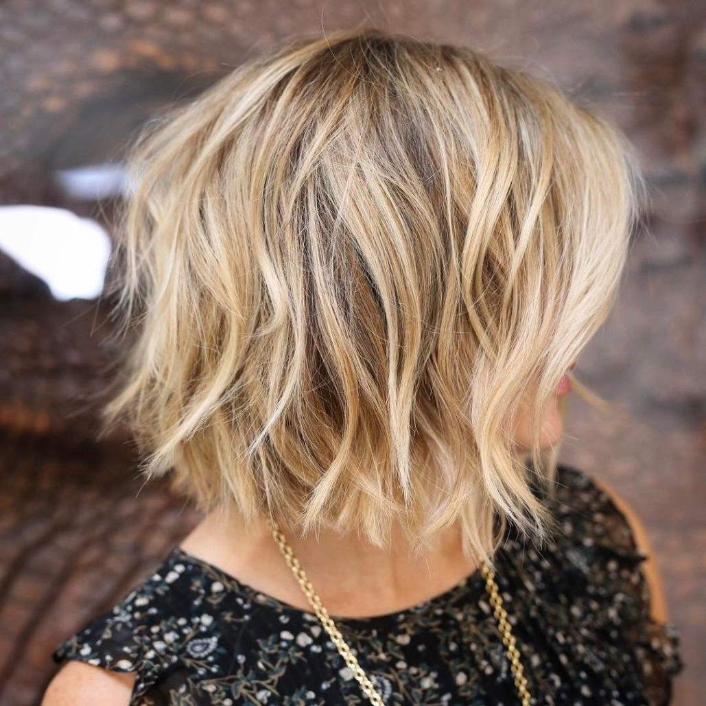 60 Most Beneficial Haircuts For Thick Hair Of Any Length | Blonde Pertaining To Messy Honey Blonde Bob Haircuts (View 15 of 20)