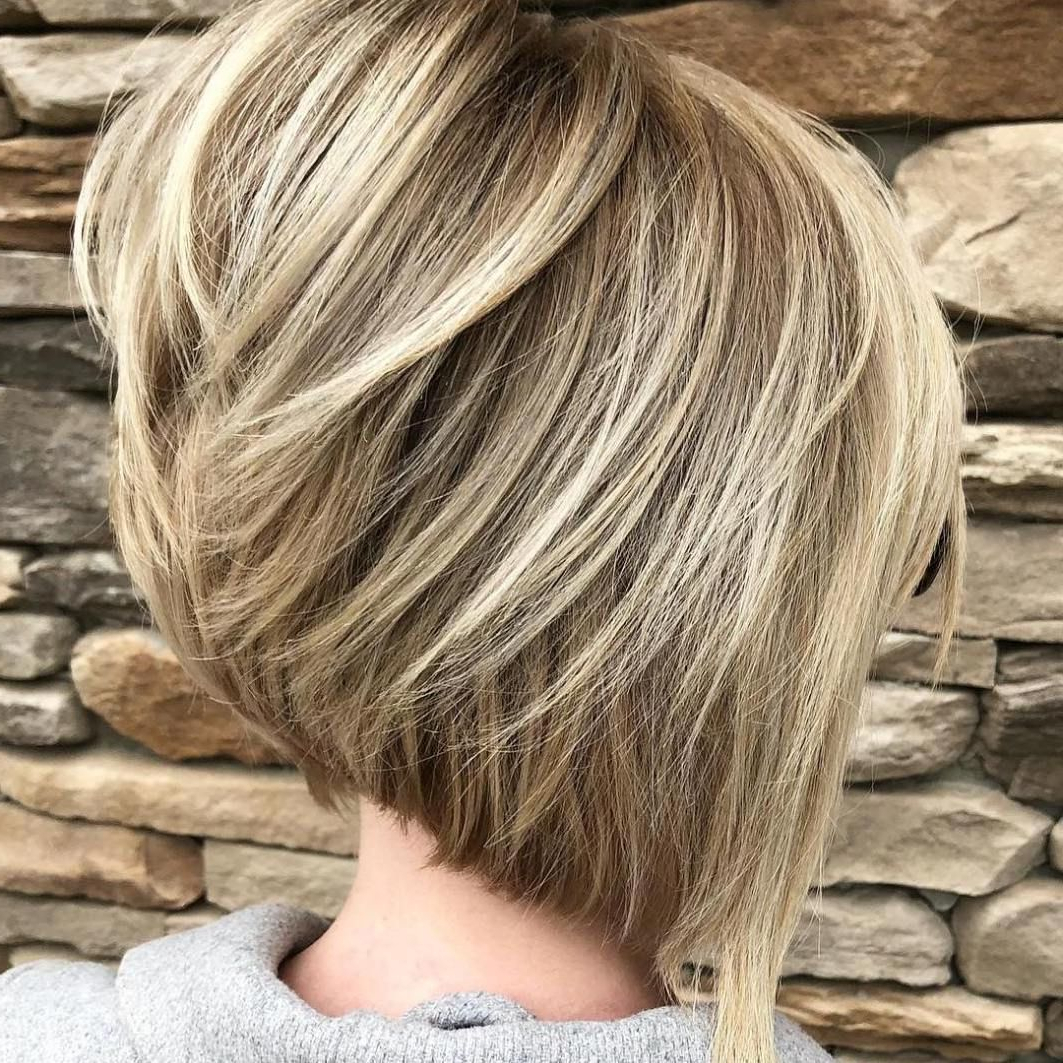 60 Most Beneficial Haircuts For Thick Hair Of Any Length In 2018 Regarding Angled Bob Hairstyles For Thick Tresses (View 9 of 20)