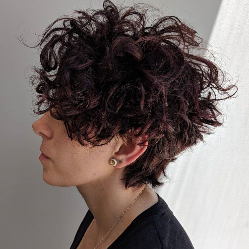 60 Most Delightful Short Wavy Hairstyles | Curly Stuff! | Pinterest With Regard To Long Messy Curly Pixie Haircuts (View 11 of 20)