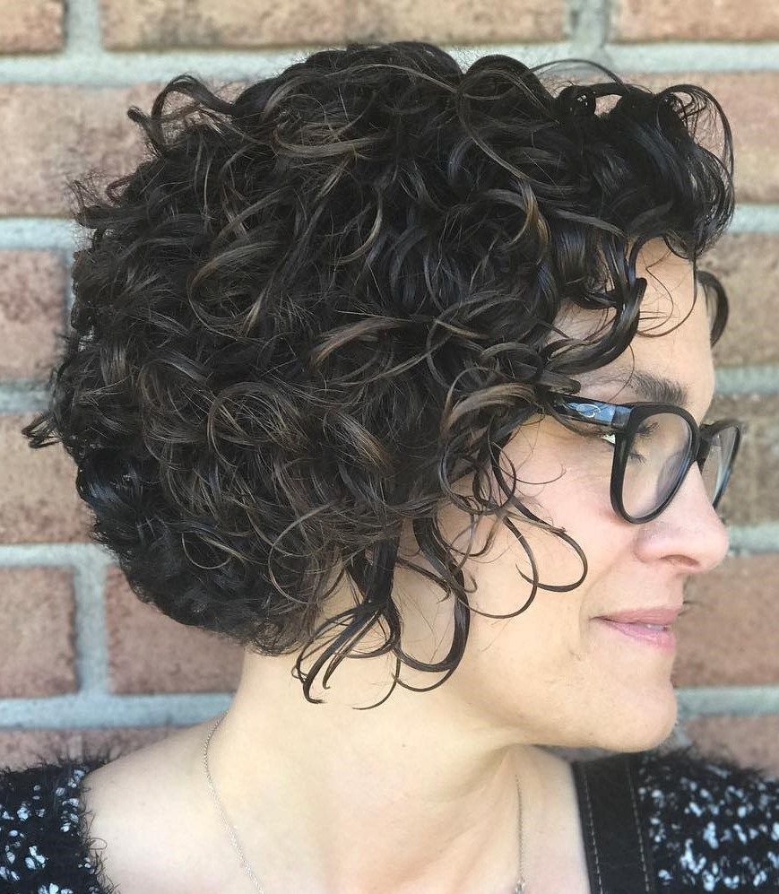 Featured Photo of Black Wet Curly Bob Hairstyles With Subtle Highlights