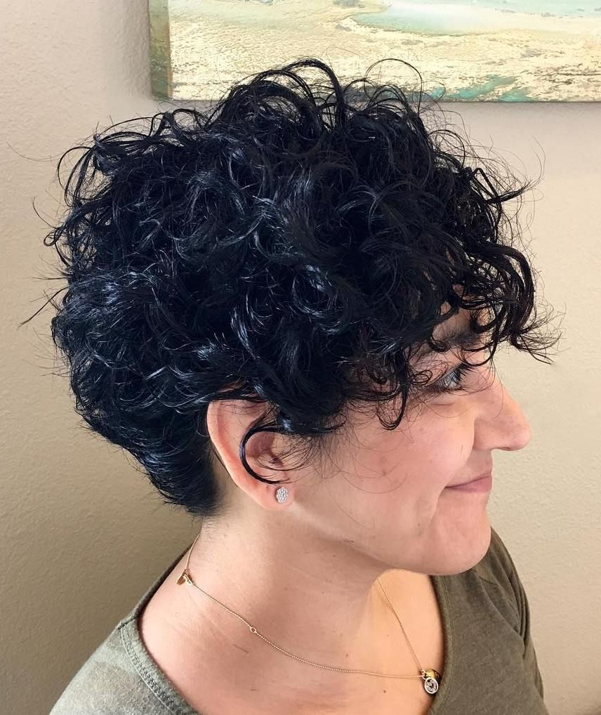 60 Most Delightful Short Wavy Hairstyles | Hair Did | Pinterest Intended For Short Black Hairstyles With Tousled Curls (View 1 of 20)