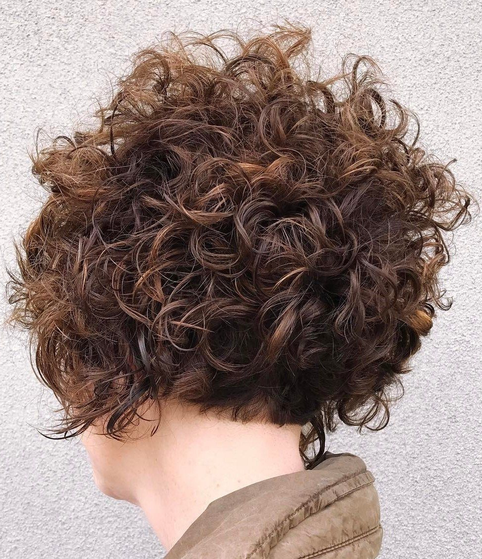60 Most Delightful Short Wavy Hairstyles | Hair I Might Need With Nape Length Brown Bob Hairstyles With Messy Curls (View 17 of 20)