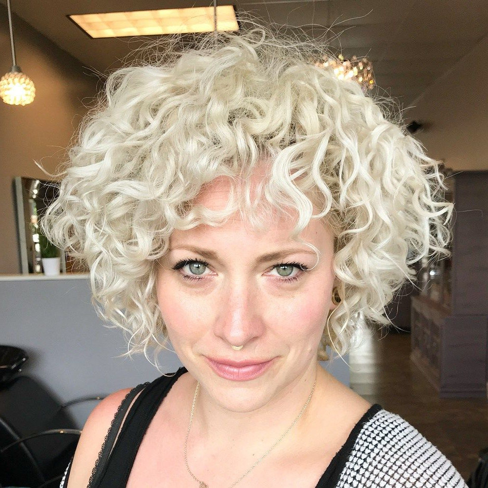 60 Most Delightful Short Wavy Hairstyles | Hair Styling | Pinterest Within White Blonde Curly Layered Bob Hairstyles (View 12 of 20)