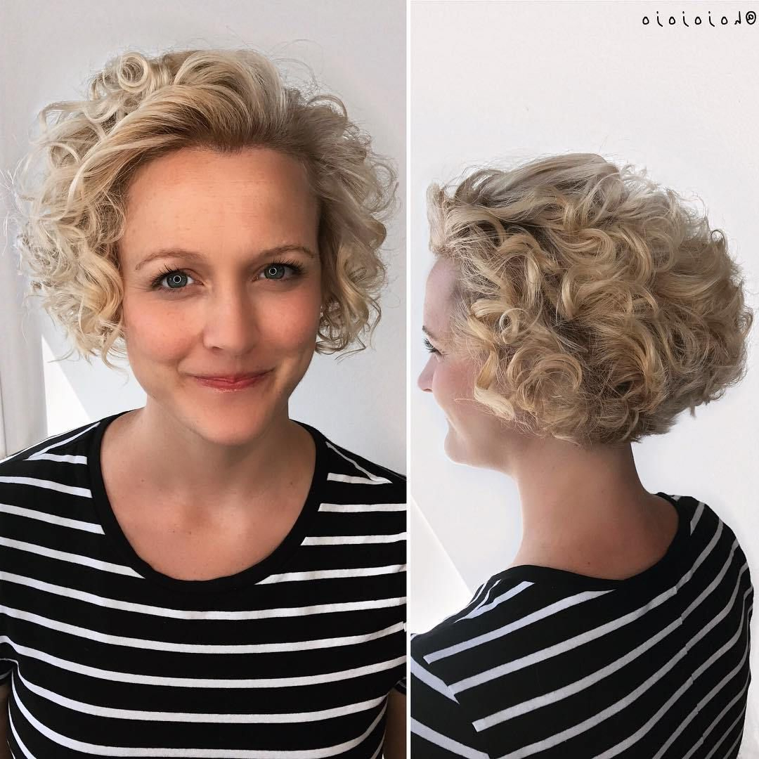 60 Most Delightful Short Wavy Hairstyles | Hairstyles | Pinterest Pertaining To Nape Length Blonde Curly Bob Hairstyles (View 12 of 20)