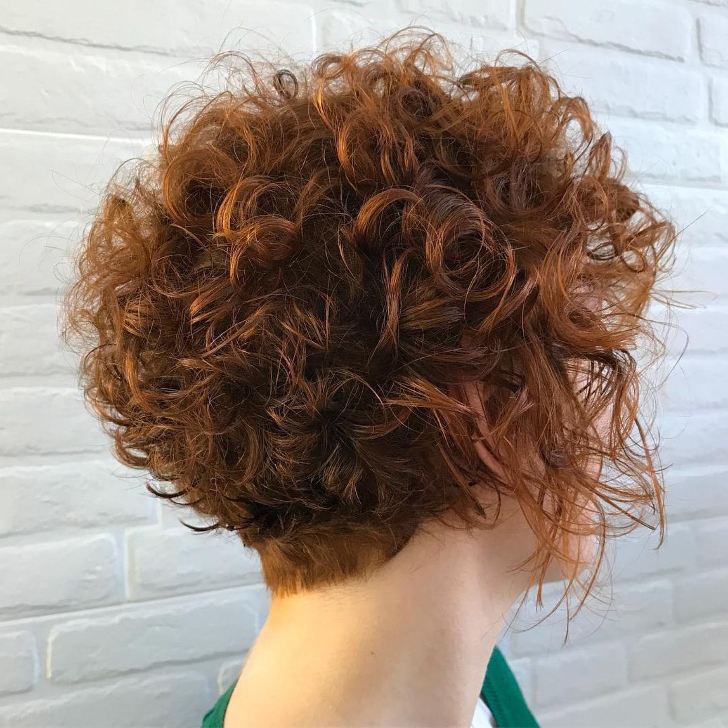 60 Most Delightful Short Wavy Hairstyles In 2018 | Hair Ideas With Tapered Brown Pixie Hairstyles With Ginger Curls (View 8 of 20)