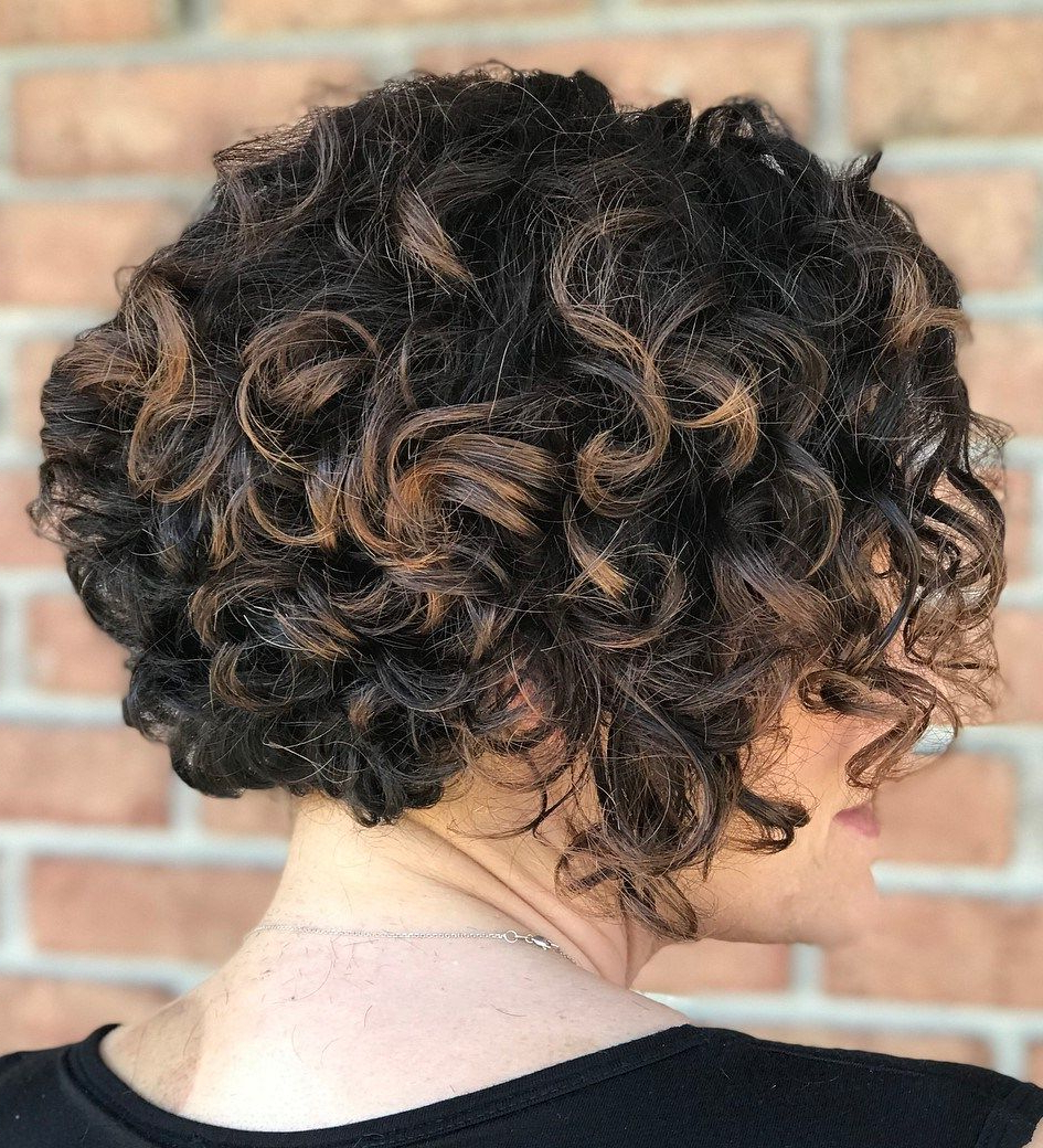 60 Most Delightful Short Wavy Hairstyles In 2018 | Hair – Not In Black Wet Curly Bob Hairstyles With Subtle Highlights (View 6 of 20)