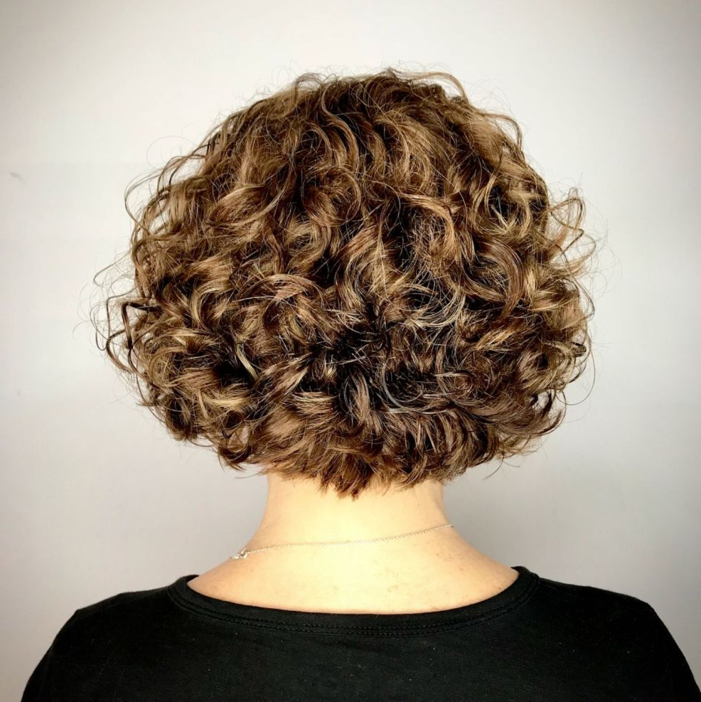 60 Most Delightful Short Wavy Hairstyles In 2018 | Hair Style For Nape Length Curly Balayage Bob Hairstyles (View 11 of 20)