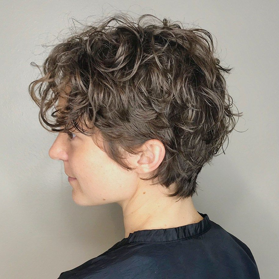 60 Most Delightful Short Wavy Hairstyles In 2018 | Hairstyles Pertaining To Tapered Brown Pixie Hairstyles With Ginger Curls (View 9 of 20)