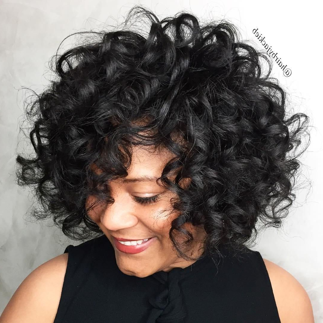 60 Most Delightful Short Wavy Hairstyles | Peinados | Pinterest Regarding Bouncy Curly Black Bob Hairstyles (View 3 of 20)