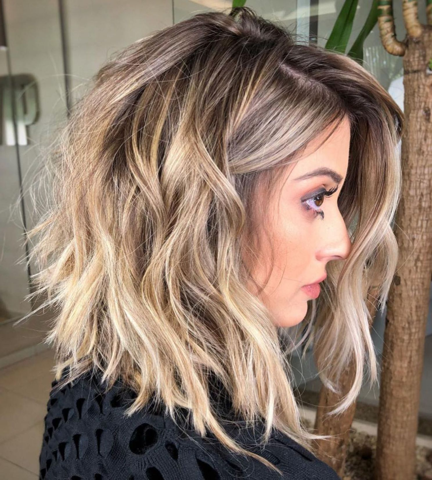 60 Most Magnetizing Hairstyles For Thick Wavy Hair In 2018 Within Wavy Bronde Bob Shag Haircuts (View 12 of 20)