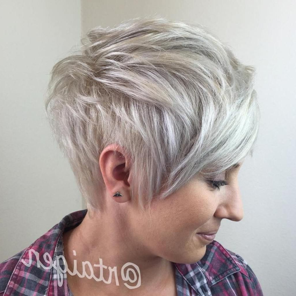 60 Overwhelming Ideas For Short Choppy Haircuts In 2018 | Hair Pertaining To Ash Blonde Undercut Pixie Haircuts (View 13 of 20)