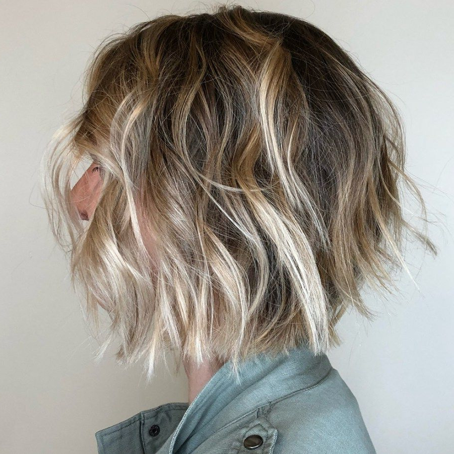60 Short Shag Hairstyles That You Simply Can't Miss | Haircut I Love Pertaining To Wavy Bronde Bob Shag Haircuts (View 14 of 20)