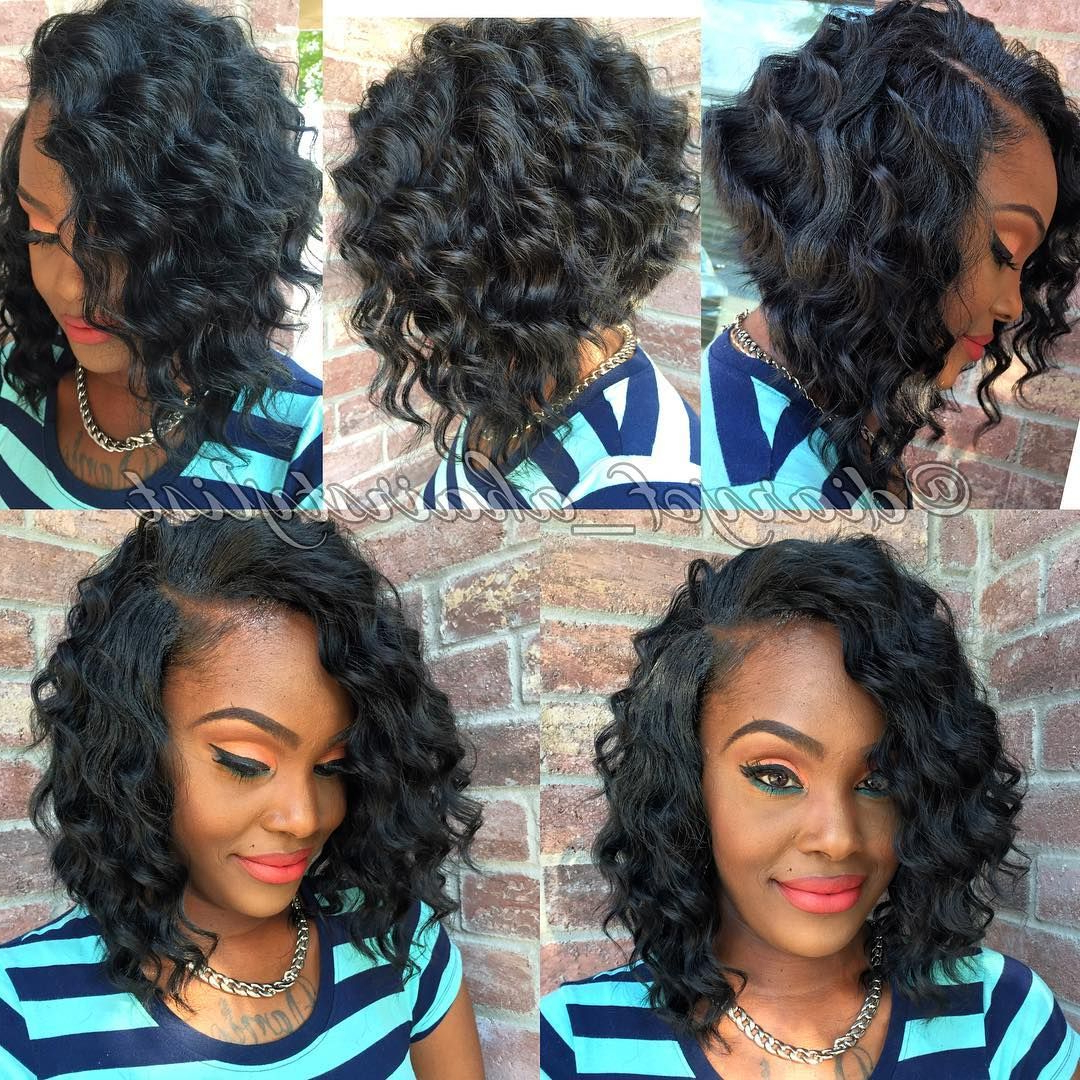 Featured Photo of Bouncy Curly Black Bob Hairstyles