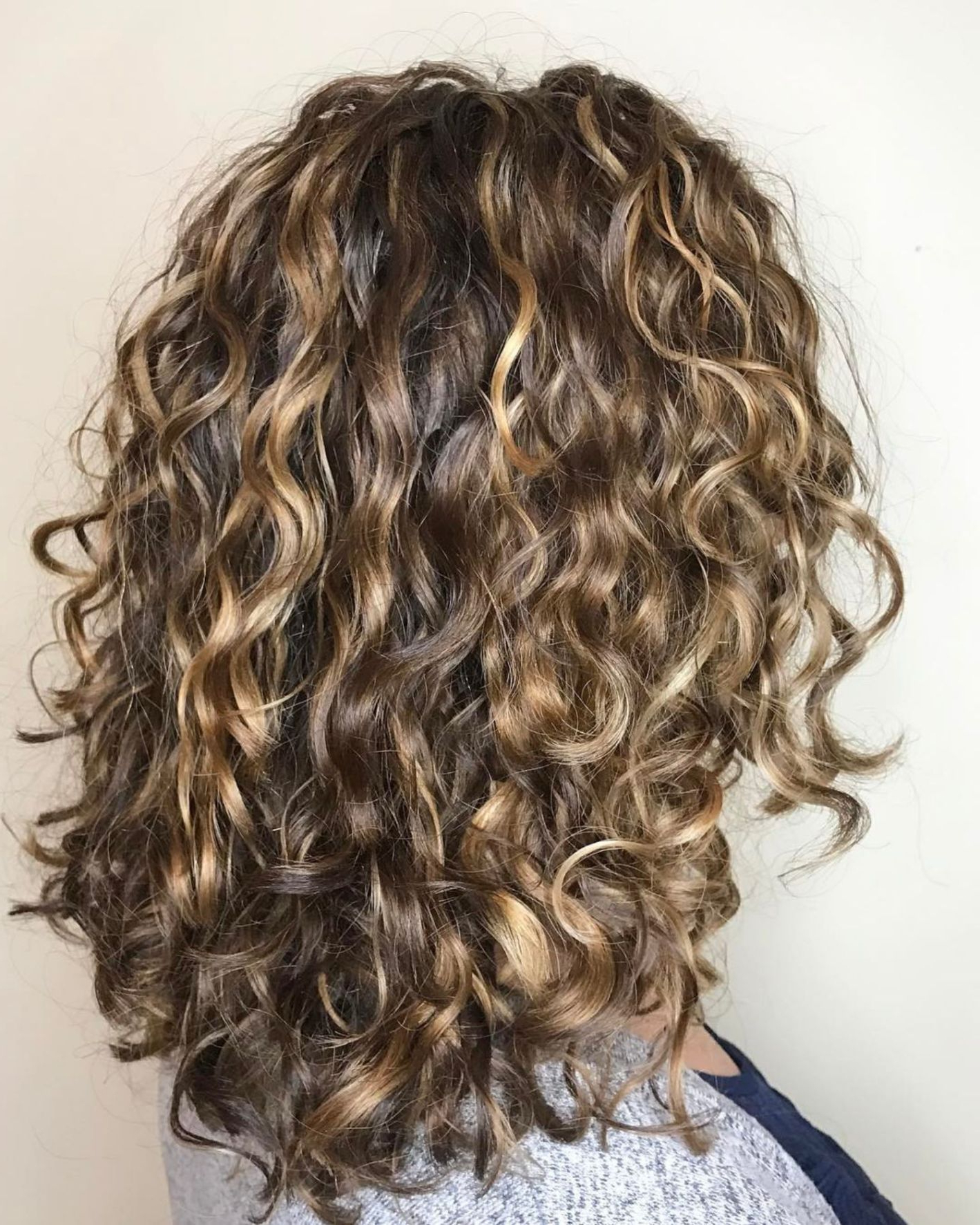 60 Styles And Cuts For Naturally Curly Hair | Hairstyles | Pinterest In Brown Curly Hairstyles With Highlights (View 1 of 20)