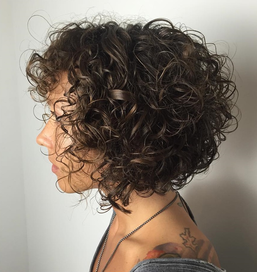 60 Styles And Cuts For Naturally Curly Hair In 2018 Intended For Golden Brown Thick Curly Bob Hairstyles (View 16 of 20)