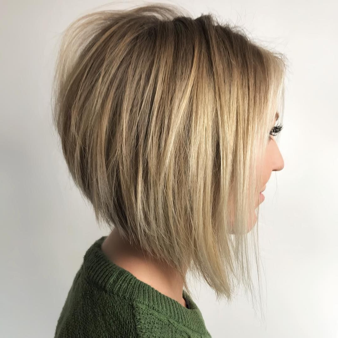 70 Best A Line Bob Hairstyles Screaming With Class And Style | A Throughout Straight Textured Angled Bronde Bob Hairstyles (View 2 of 20)