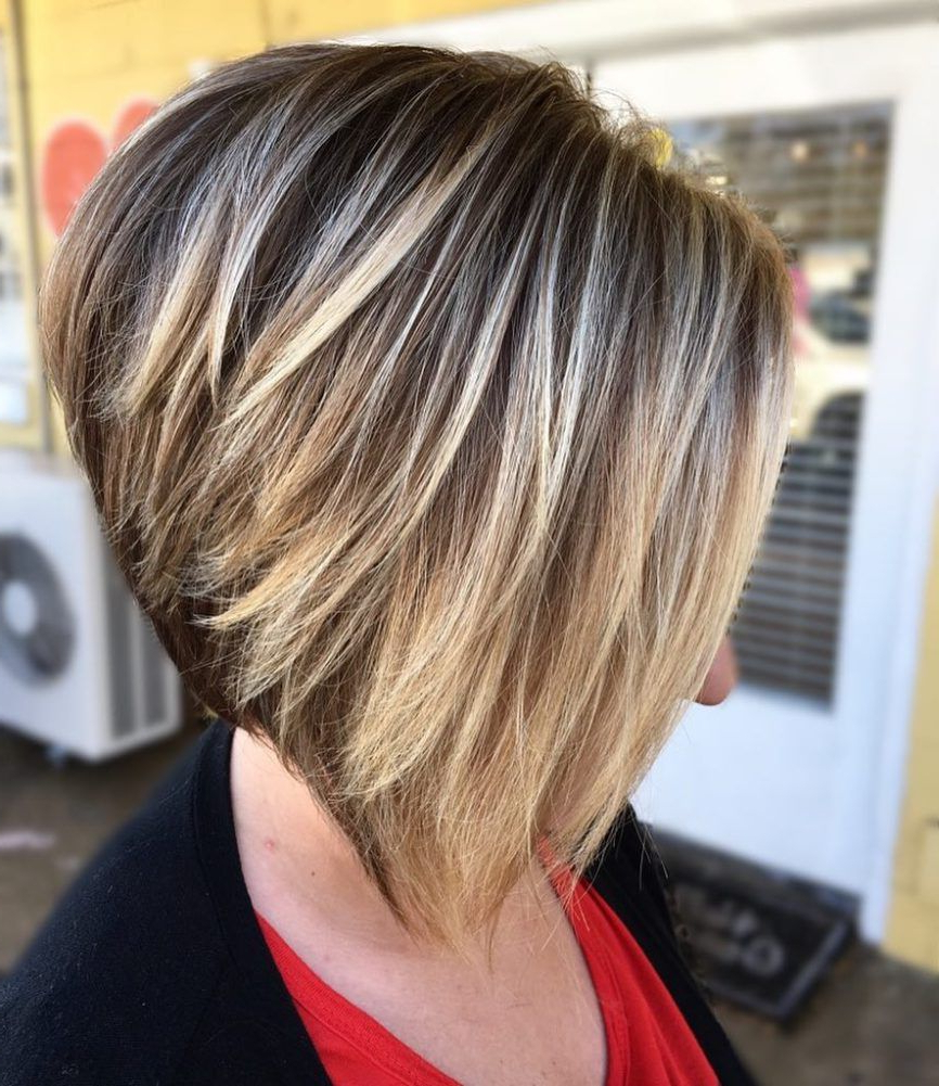 70 Best A Line Bob Hairstyles Screaming With Class And Style In 2018 Intended For Stacked Blonde Balayage Bob Hairstyles (Gallery 6 of 20)