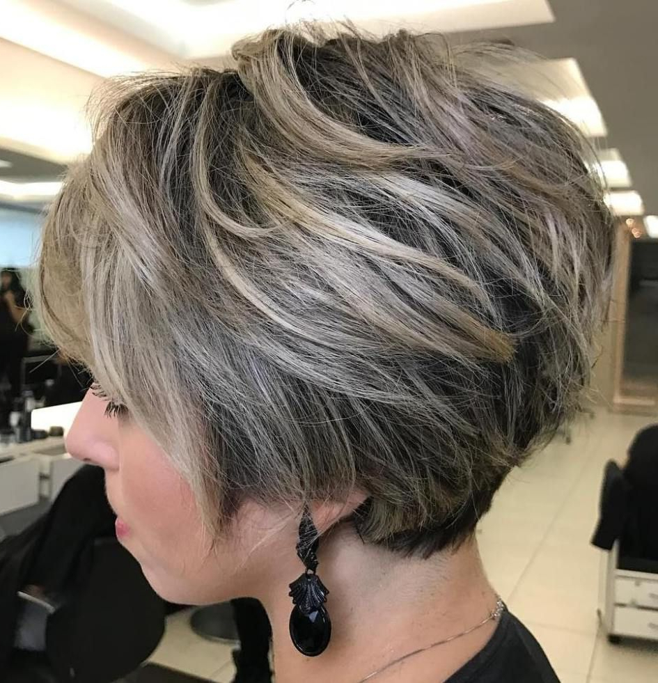 70 Cute And Easy To Style Short Layered Hairstyles | Blonde Balayage For Stacked Blonde Balayage Pixie Hairstyles For Brunettes (Gallery 6 of 20)